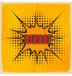 Cartoon Bingo on an old yellow background vector image vector image