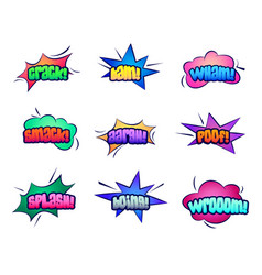 cartoon stars and cloud bubble speeches vector image vector image