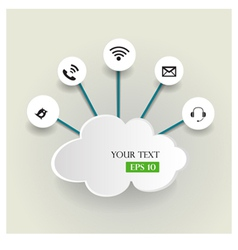 Cloud computing concept with icons vector image