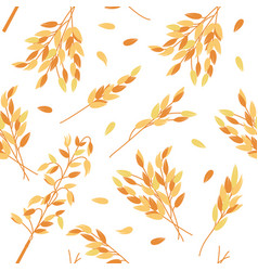 Oat branches seamless pattern - vector