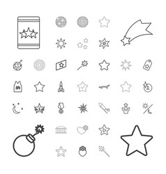 37 star icons vector