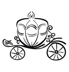 A horse carriage silhouette or color vector