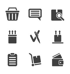 a set of icons from the order to the moment of vector image