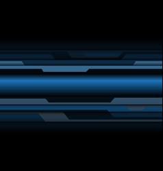 Abstract blue grey metallic cyber polygon vector
