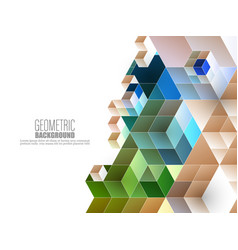 abstract geometric background with triangles and vector image