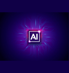 ai artificial intelligence technology background vector image