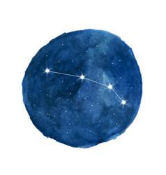 Aries constellation icon zodiac sign vector