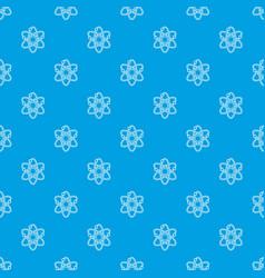 atom pattern seamless blue vector image