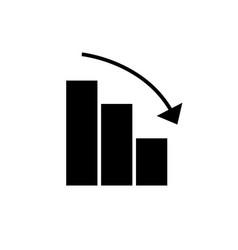 bars graphic descending icon vector image