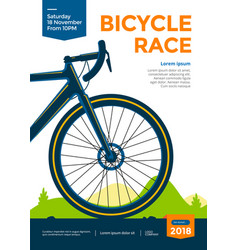 bicycle race poster vector image