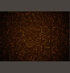 Binary code golden background big data and vector