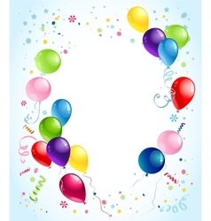 Birthday balloons background vector