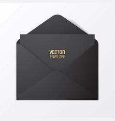 Black envelope template vector