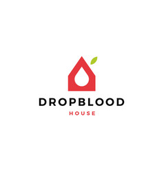 Blood donation house logo icon vector