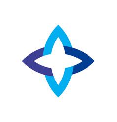 blue star logo icon vector image
