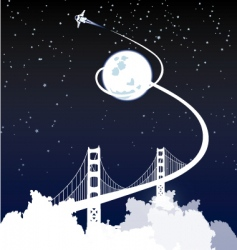 bridge to space vector image
