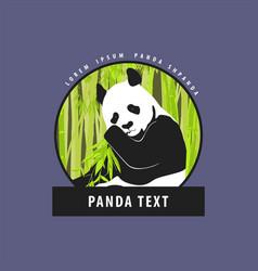 Bright logo with a beautiful panda vector