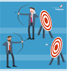 businessman shooting arrow vector image