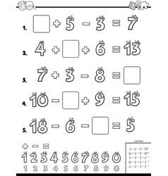 Calculation educational worksheet for school vector
