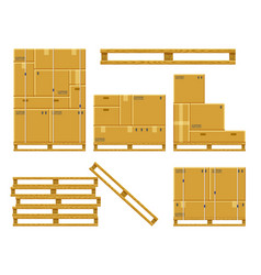 cargo box stack carton delivery packaging boxes vector image