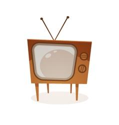 Cartoon Retro Tv vector