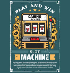 casino gambling club slot machine vector image