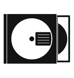 Cd box with disc icon simple style vector