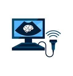 Cerebral vessels ultrasound concept vector
