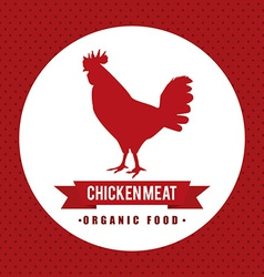 Chicke meat design vector