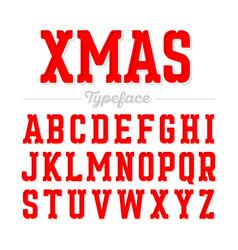 Christmas style font xmas alphabet vector