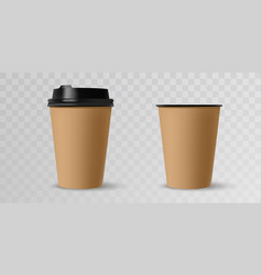 coffee cups mockup template for cafe corporate vector image
