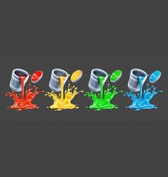 Color paints pouring vector