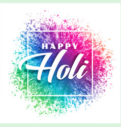 Colorful splash background for happy holi festival vector