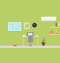 creative modern workplace with table and designer vector image