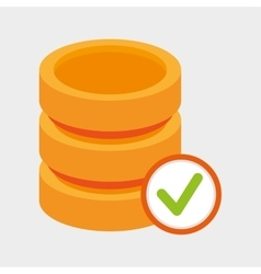 Data storage server check icon vector