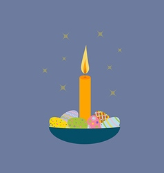 Easter egg candle vector