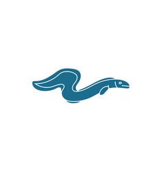 Eel electric sea life animal isolated icon vector