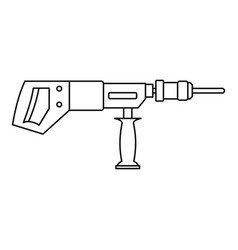 electric drill perforator icon outline vector image