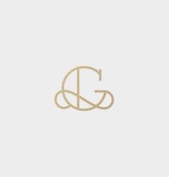 Elegant line curve logotype premium letter vector
