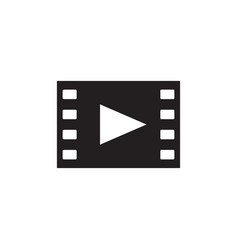 Film movie - black icon on white background vector