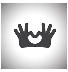 hand love symbol vector image