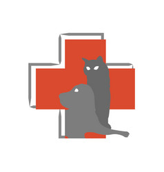 hospital logo for animals on a white background vector image