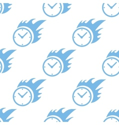 Hot clock seamless pattern vector image