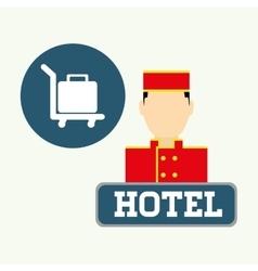 Hotel design service icon travel concept vector