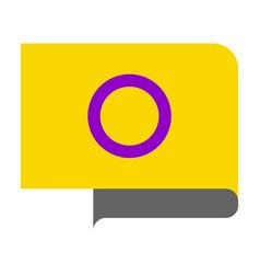 Intersex pride flag vector