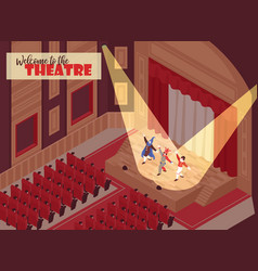 Isometric opera theatre vector