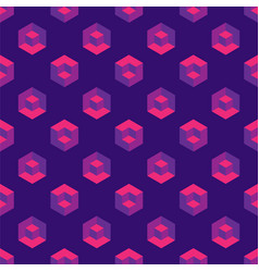 Isometric seamless pattern with cubes vector