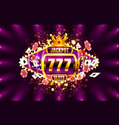 Jackpot king spins 777 banner casino on golden vector