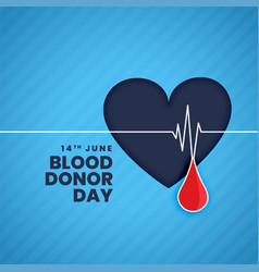 June blood donor day concept background vector
