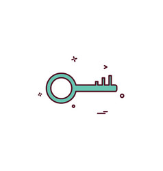 key lock icon design vector image